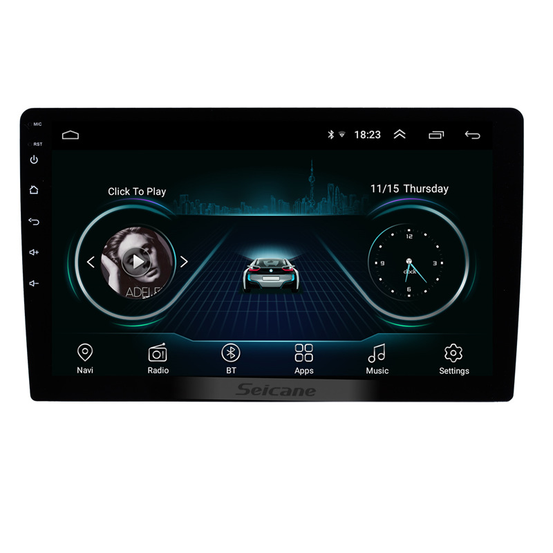 Seicane 10.1 Inch 2 Din Universal Android 8.1 Car Radio GPS Navigation Headunit Player Audio Mirror Link Steering Wheel Control