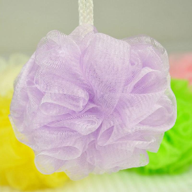 5Pcs Bath Flower Mesh Bath Washing Body Accessory Candy Color Body Wash Bath Ball Large Bath Sponge A30