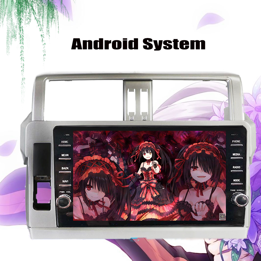 9 inch Android 10.0 4G modem 4+64gb Car DVD for Toyota Prado 150 LC150 GPS 2014 2015 2016 2017 Radio Tape Recorder USB no DVD image