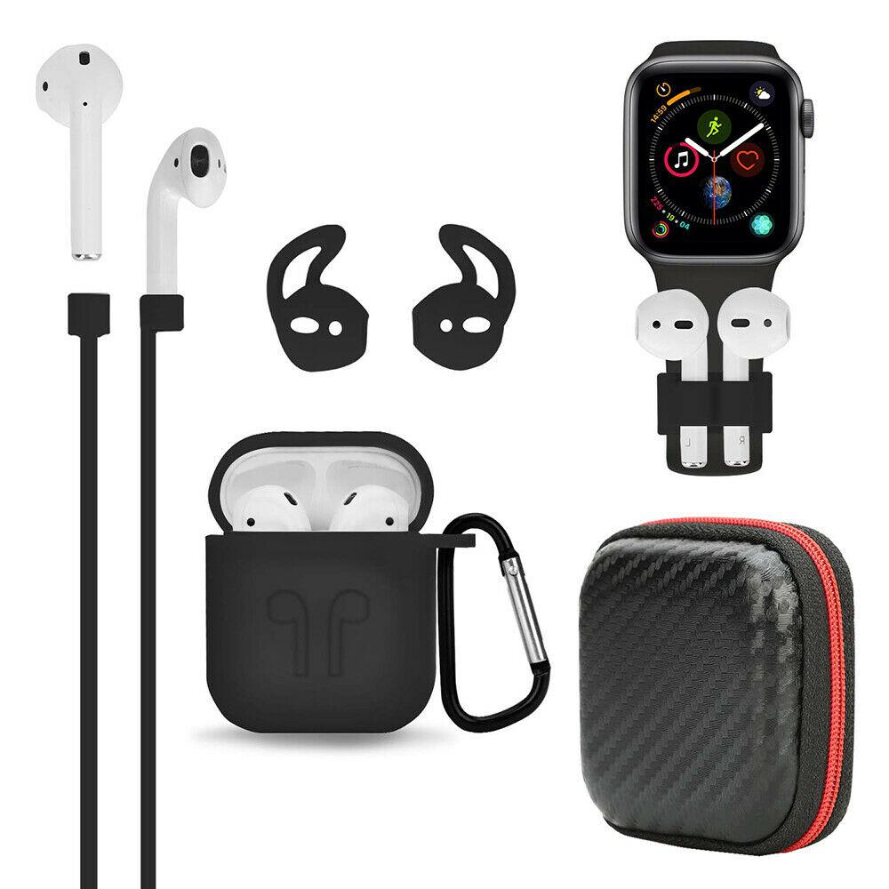 EastVita 6pcs/set Earphone case For Apple AirPods Accessories Case Kits AirPod Earphone Charging Protector Cove