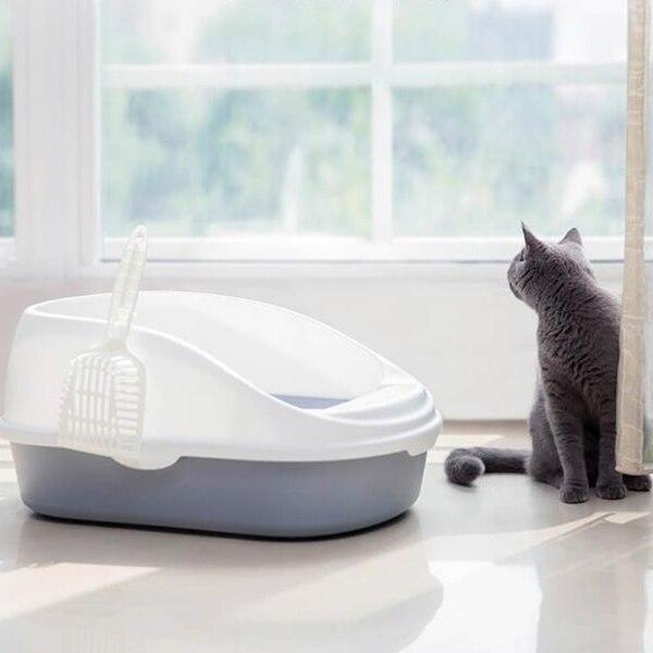Ev ve Bahçe'ten Kedi Kumu Kutuları'de Taşınabilir Kedi Çöp Kase Tuvalet Yatak Örtüleri Büyük Orta Boy Kedi Dışkı Eğitim Kum kum kabı Kepçe ile Evcil Hayvanlar için'da  Grup 3