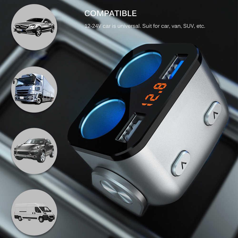 Car Cigarette Lighter Socket Splitter Charger USB Charger Cigarette Lighter Sockets Power Interior Parts