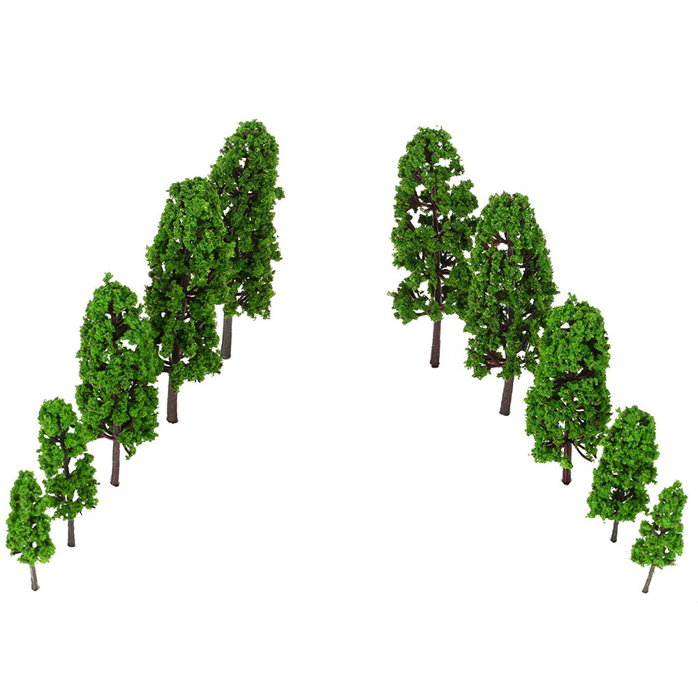 20Pcs/Set Green Pagodo Tree Model Miniatures Trees Model For Train Layout Garden Scenery  Landscape Wargame Architectural Model