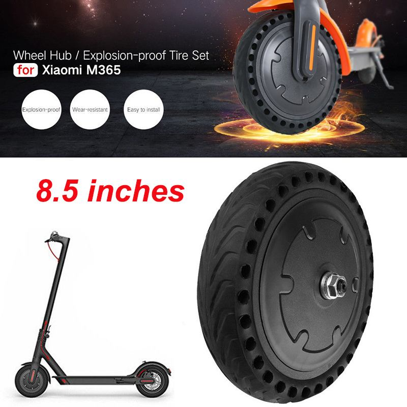 Puncture proof Wheel Hub Tire For Xiaomi Scooter M365 8.5inch Solid Tyre 250W Front Flat Tire Electric Scooter Parts Accessories