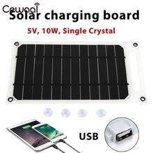 5V 10W Solar Charger Panel Climbing Phone Outdoor Durable Fast Travel Mobile Generator