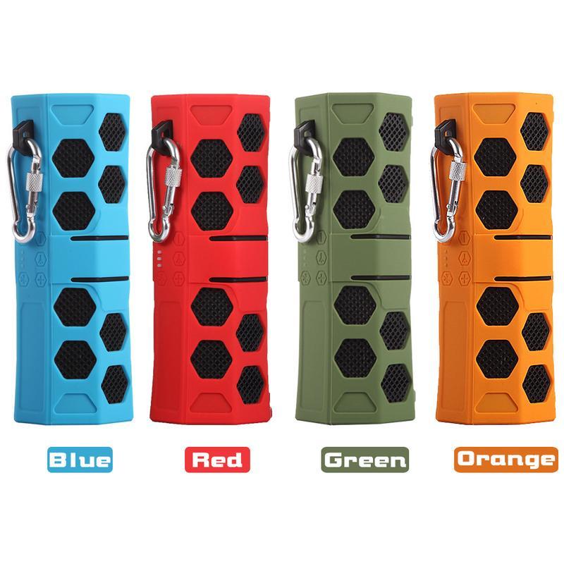 Portable Double musique pour haut-parleur bluetooth Lecteur En Plein Air assistance sportive Insertion téléphone Portable Carte D'entrée AUX Bleu Rouge Vert Orange