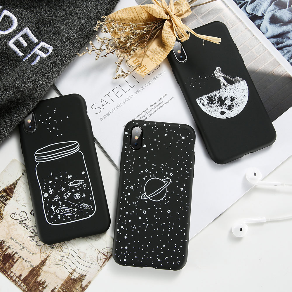 KISSCASE Cool Moon Pattern Phone Case For Samsung Galaxy J3 J5 J7 A3 A5 A7 2017 2016 2018 A8 A9 Fashion Fundas Cute Covers Coque in Fitted Cases from Cellphones Telecommunications