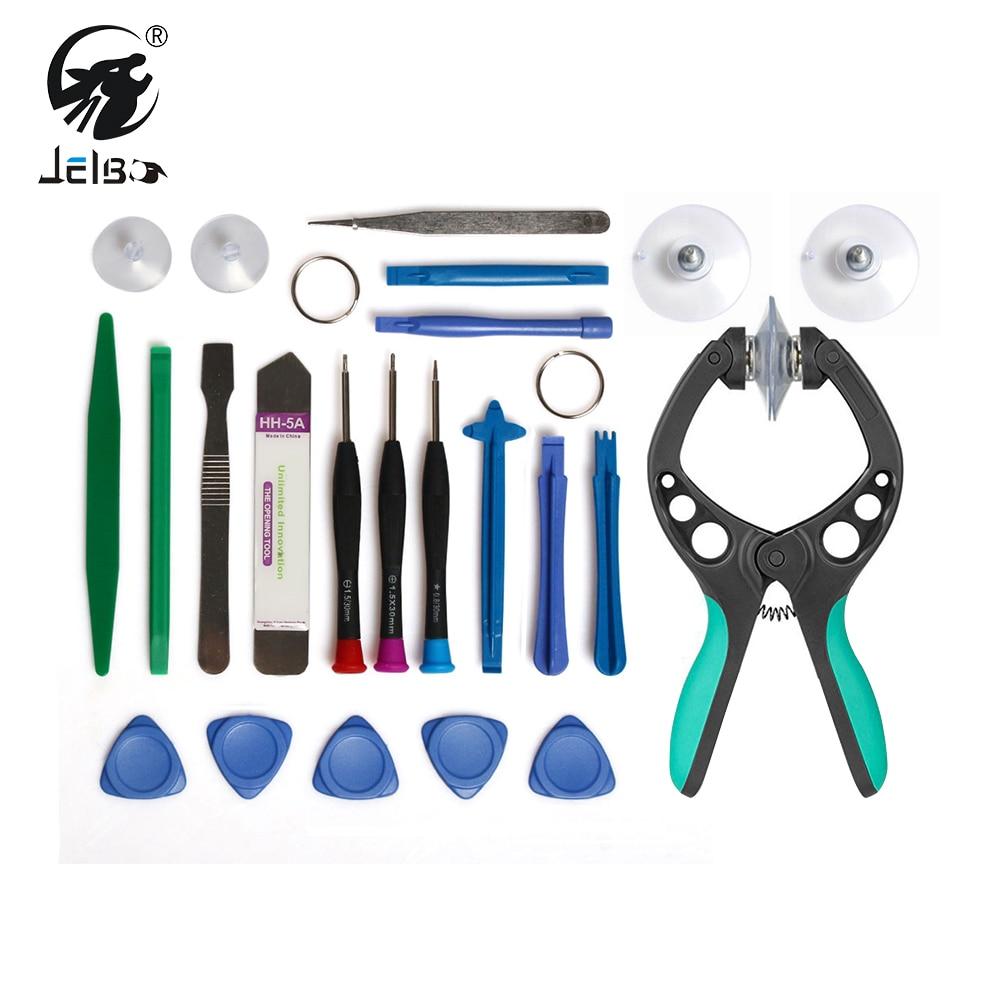 JelBo Mobile Phone Repair Tools Screwdriver Repair Tool Set LCD Screen Opening Pliers Suction Cup for IPhone iPad Samsung Phone