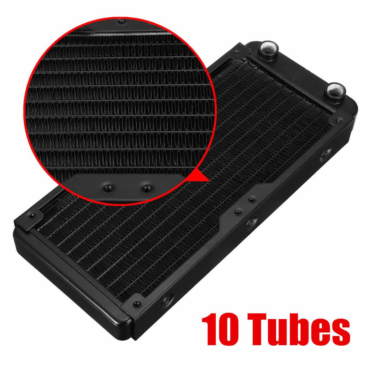 240 مللي متر 10 أنابيب الألومنيوم الكمبيوتر المبرد المياه التبريد برودة ل وحدة المعالجة المركزية المبرد مبادل وحدة المعالجة المركزية بالوعة الحرارة لأجهزة الكمبيوتر المحمول سطح المكتب