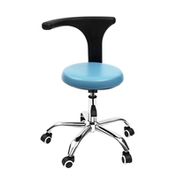 Ergonomic PU Dental Medical Dentist's Chair Seat Adjustable Rolling Chair with Back Anti static Beauty Stool Salon Barber Chair