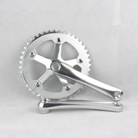 Single speed CNC 44T*170mm 6061 T6 aluminum alloy chainring Crank chainwheel fixie crankset fixed gear folding bike crankset
