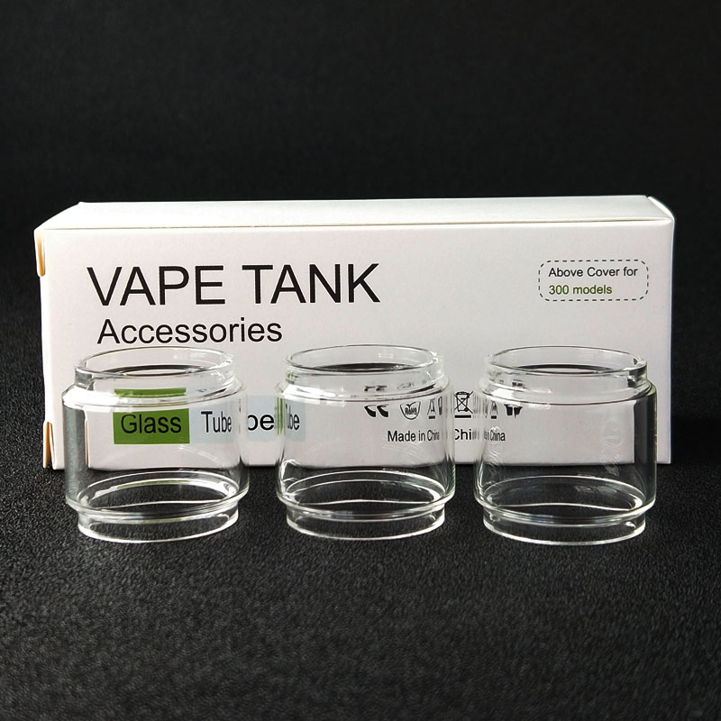 High Quality 3pcs Glass Tube For Crown 4 2ML 6ML Atomizer Tank Fast Shipping