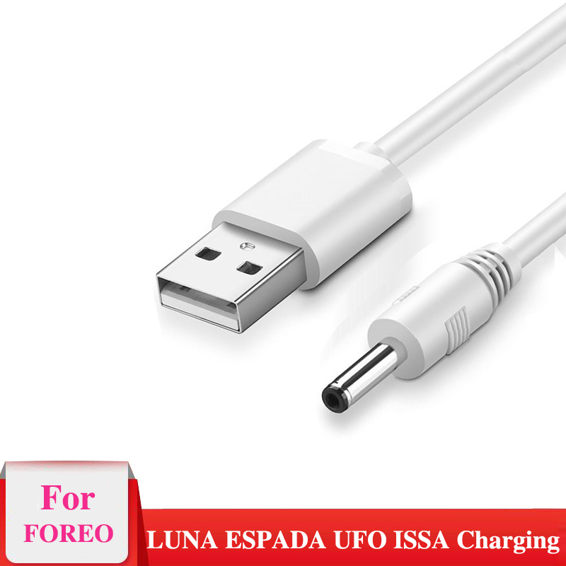 USB Charger Cable For For Foreo Facial Spa Massager For Cleansing Luna Luna2 Luna3 Mini Mini 2 Go Luxe USB Charger Cord