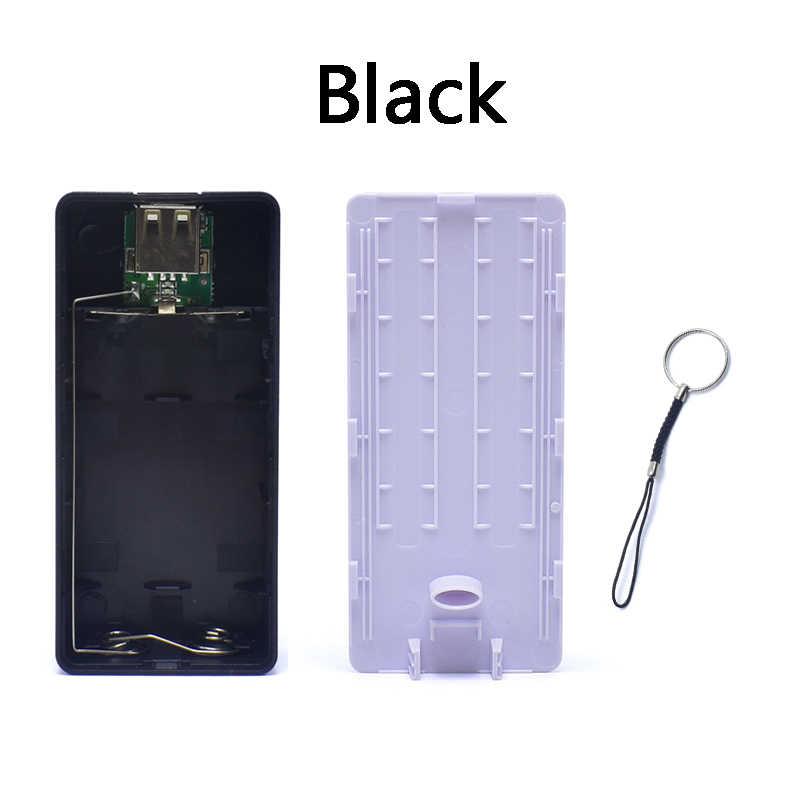 מיני USB יציאת 2x18650 סוללה מטען בעל כוח בנק תיבת פגז מקרה DIY ערכת סוללות לא כלול חיצוני סוללה חבילה