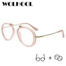 Oval redondo Mulheres Óculos de Prescrição Leve de Liga de Titânio Óculos  de Miopia Óptico Óculos de Armação Coreano Retro Eyewe. 4ed19b621e