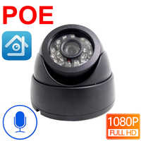 Poe Ip Camera 1080P Cctv Security Video Surveillance 2MP Infrared Home Surveillance Indoor Onvif Night Vision Audio Dome Camera