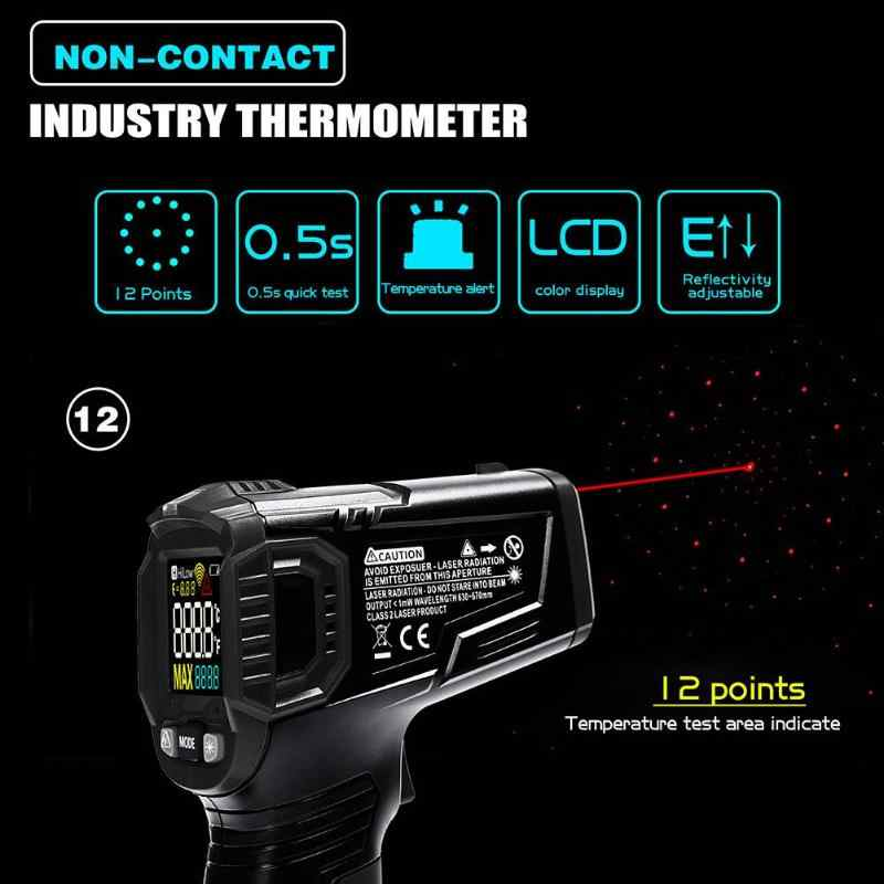 Non contact Infrared Thermometer Digital measure Hygrometer IR Pyrometer Laser Thermometer Gun Humidity Temperature Meter device