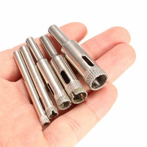 5Pcs 5mm-12mm Galvanisieren Diamant Beschichtet Cutter Loch Sah Tool Set für Glas Marmor Fliesen Granit bohrer Werkzeuge