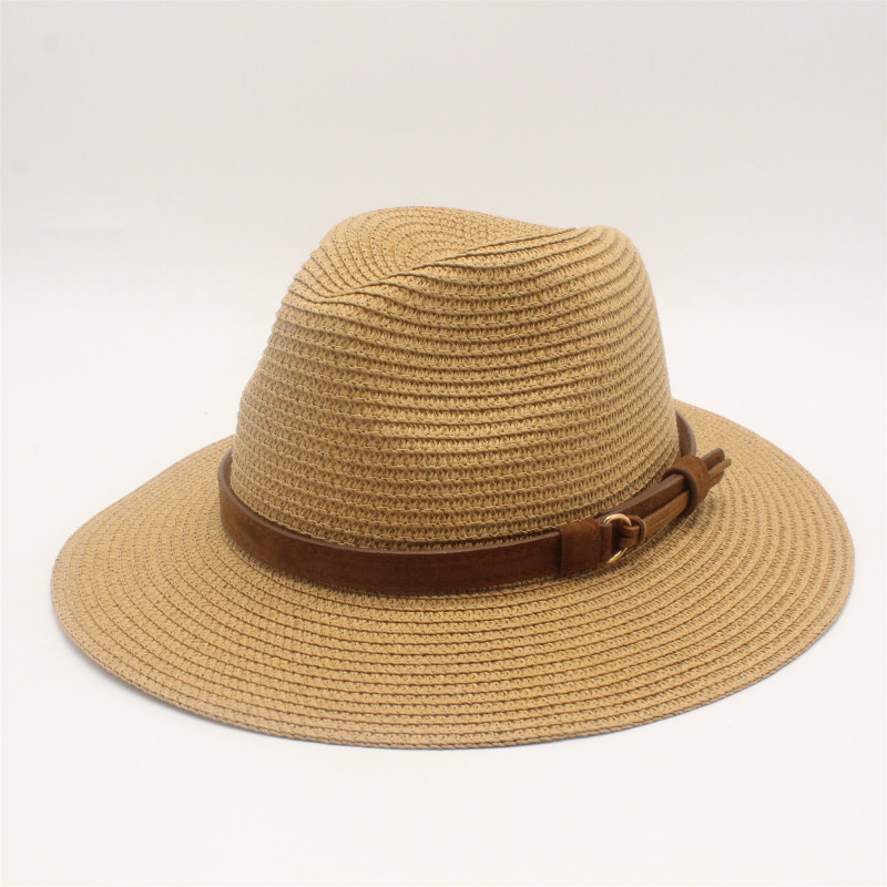 Summer Sun Hat For Women Straw Sun Hats Wide Brim Sun Visor Cap Solid Straw Jazz Hat Beach CAP Sombrero Panama Gorras