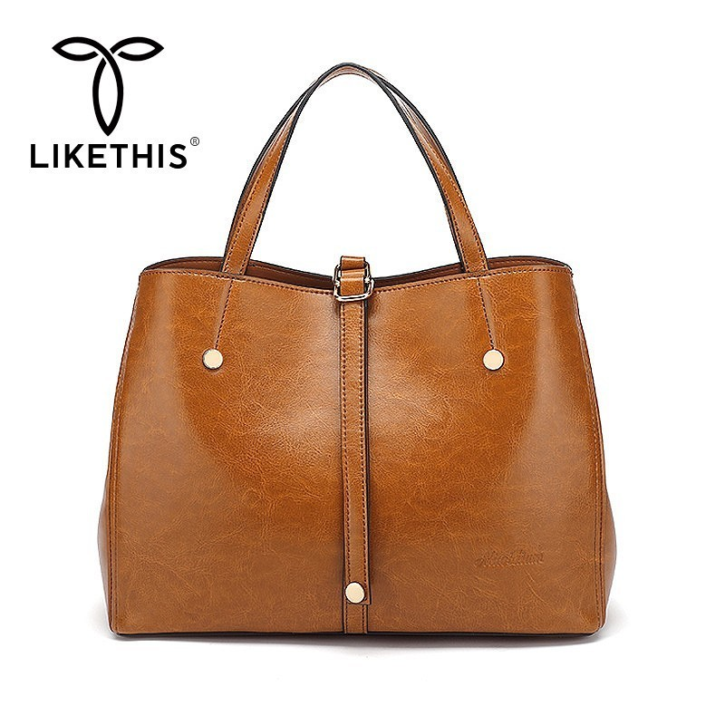 9b00e2846e33 LIKETHIS женские кожаные сумки, повседневные торбы сумки 2019 Мода большой  емкости для покупок через плечо сумка Топ-ручка сумка Sac основной мягки.