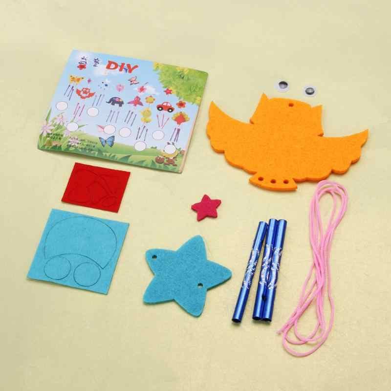 ילדים ילד DIY רוח פעמוני איאוליות פעמונים חינוכיים פאזל צעצועי קרפט ערכות אקראי משלוח