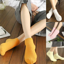 2019 New Style Fashion Hot Women Casual Solid Ankle High Short Cotton Socks Fashion Winter Warm Sock(China)