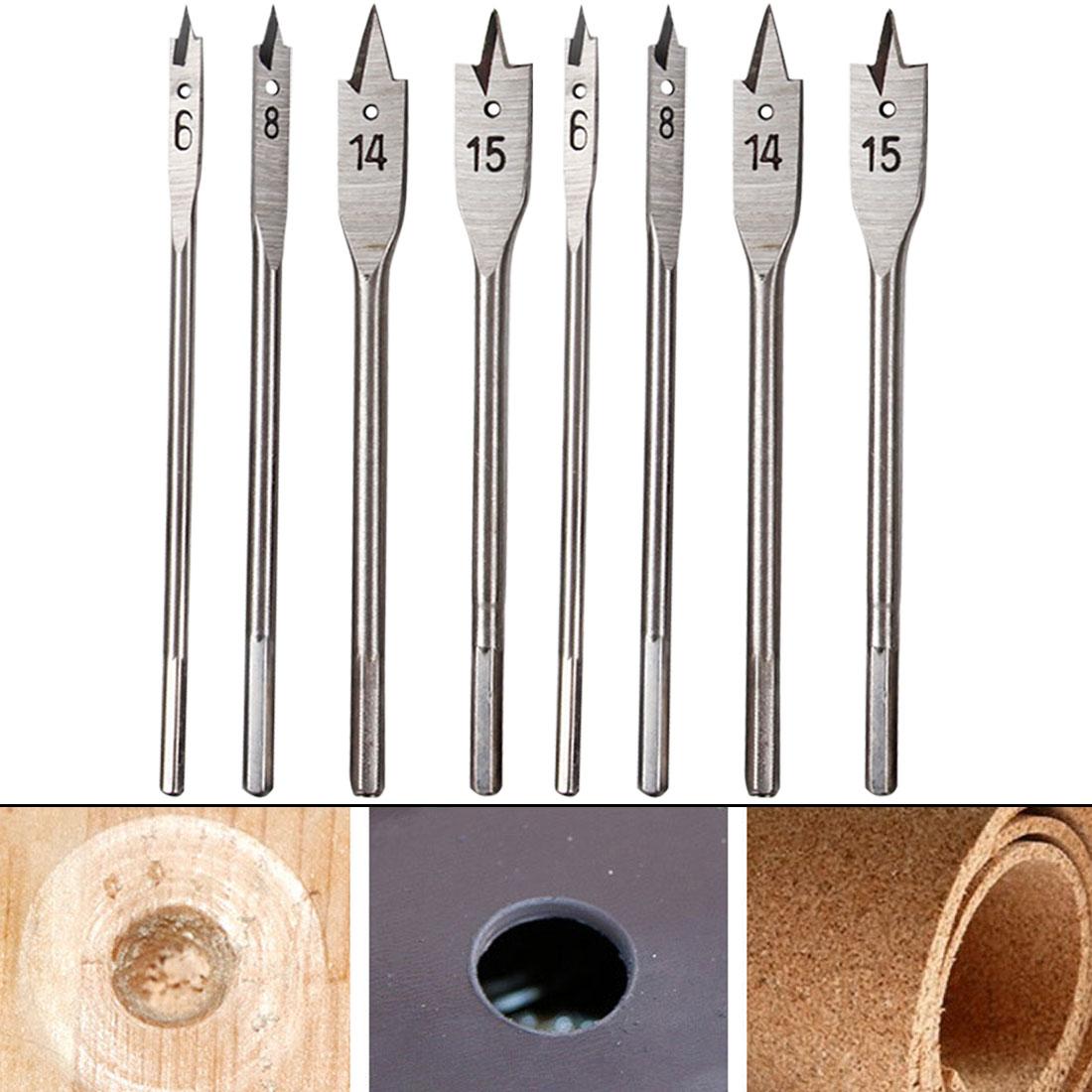 6-45mm Hand Drill Bits Flat Drills High-carbon Steel Wood Woodworking Tool