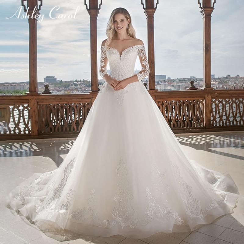Ashley Carol Vintage A Line Tulle Wedding Dress 2019 New Arrival Custom Made Sexy Sweetheart Long