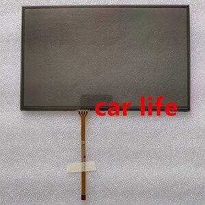 8 polegada Lente painel Digitador Da tela de toque de vidro Preto para Volkswagen touareg car DVD player gps navigation LT080AB3G700 LCD