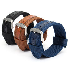 18/2022/24mm WatchBand 30cm Natos Nylon Military Casual Watch Strap Waterproof Army Sport Watch Bands(China)