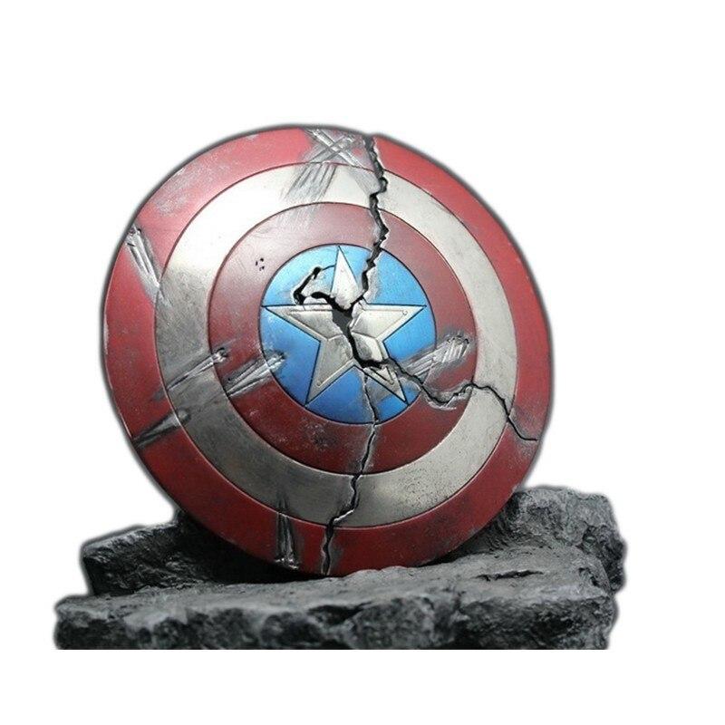 2019 Marvel Legends 1/6 aleación Capitán América escudo para Infinity War damage iron Man vengadores figuras de acción modelo de película Figma