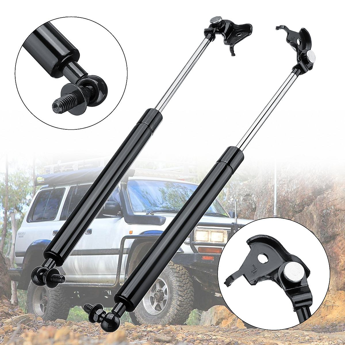 2 x Front Bonnet Hood Gas Struts Support For Toyota Land Cruiser 80 Series 90 97 Length 47cm Steel Auto Replacement Parts|Strut Bars| |  - title=