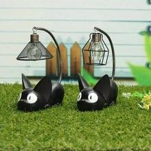 LED Night Light C reative Resin Cat Animal Night Light Ornaments Home Decoration Gift Small Cat Nursery Lamp Breathing