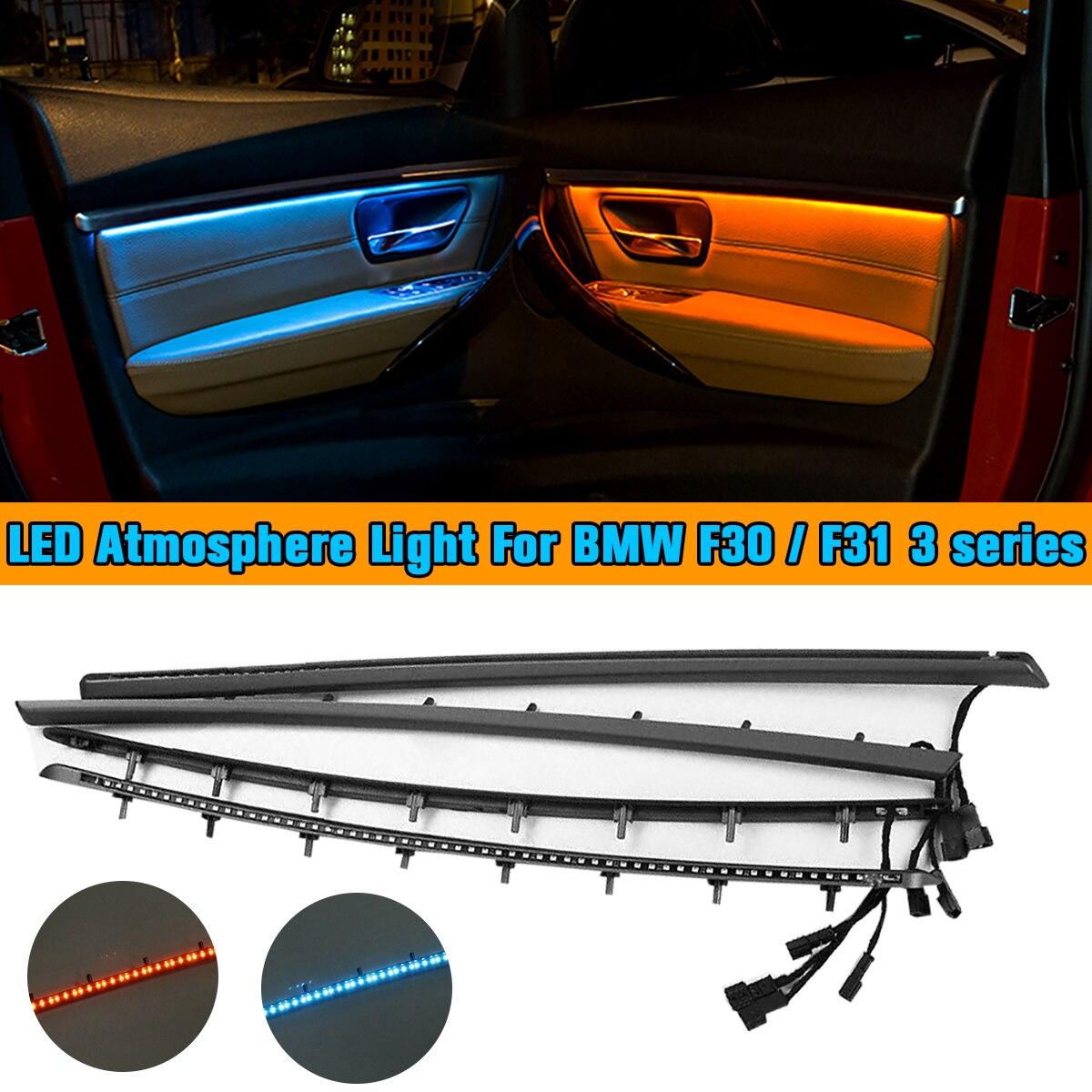 4 pièces Led Lumières Ambiantes pour BMW F30/F31 Panneau de Porte Intérieur Liserés Décoratifs Lampe Atmosphère Éclairage Kit de Mise À Niveau