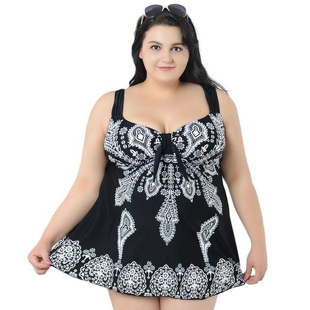 810ef6884d9d Promoción 8XL 10XL falda de traje baño grande para mujer talla una ...
