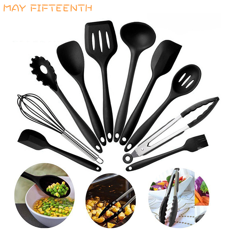 US $6.21 29% OFF|10pcs 5pcs Silicone Cooking Utensils Set Kitchen Utensil  Sets Baking Pastry Utensil Heat Resistant Kitchenware Cookware Tool 224-in  ...