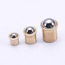 ELEG-5mm мяч Диаметр Латунь гальваническое покрытие двери шкафа мяч защелка защелки 20шт