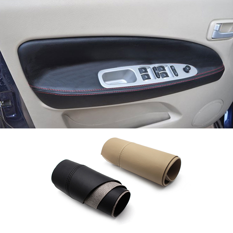 For Chery Tiggo 2005 2006 2007 2008 2009 2010 Car Door Handle Armrest Panel Microfiber Leather Cover(China)