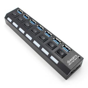 Image 2 - USB HUB 3,0 4/7 Порты Micro USB 3,0 концентратор разветвитель с Мощность адаптер USB hab высокое Скорость 5 Гбит/с USB разветвителем 3 концентратор для ПК