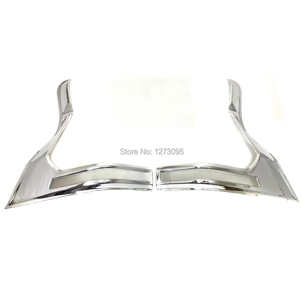 For Toyota Prado 2018 ABS Rear Head Light Lamp Cover Trim Tail Head Light Cover Car Styling Accessory for toyota prado 2018 abs rear license holder cover trim exterior car styling accessory