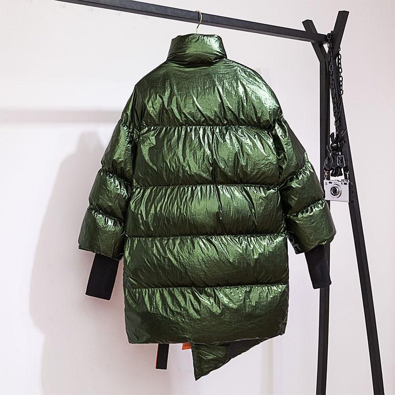 Office Marée À Zipper Automne Femmes green Lâche Haut Poches Oc206 Manches Manteau Lady Col Nouveau ewq Ourlet Longues Hiver Gray Mode 2018 black Uv60wqF
