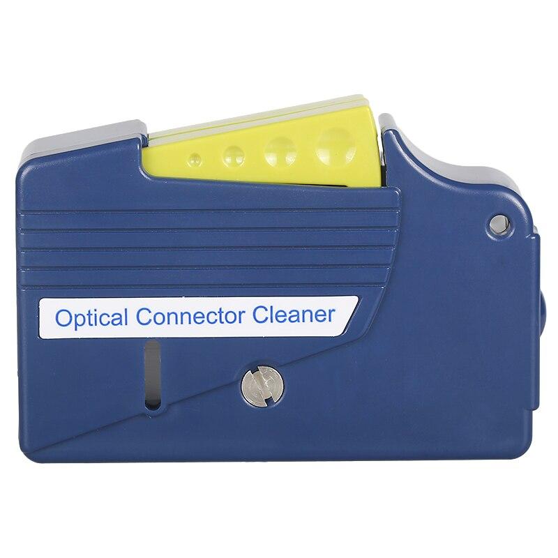 Face da extremidade da fibra caixa de limpeza ferramenta de limpeza de fibra pigtail fibra cassete limpo limpo, ferramentas de fibra Óptica Ftth Cleaner para SC ST/FC
