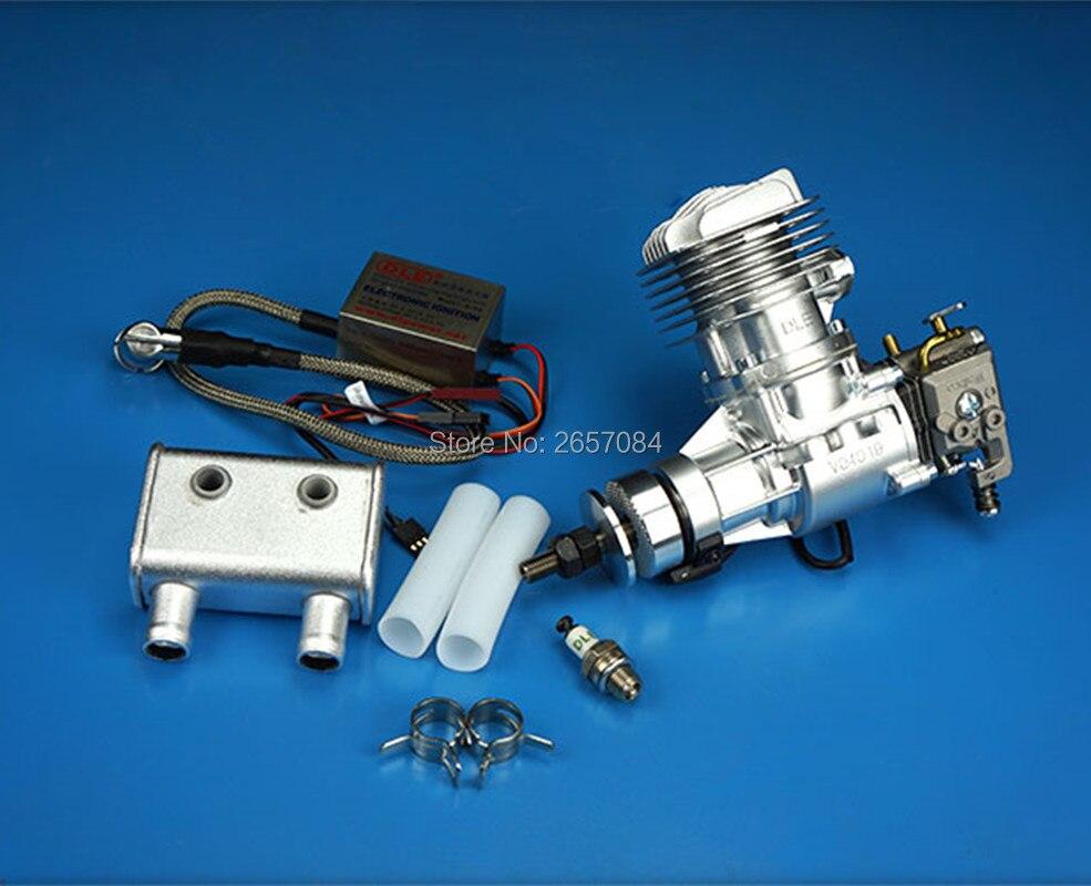 DLE20RA 20cc GAS Engine Para RC Avião de Asa Fixa Modelo Único de dois Tempos escape vento frio mãos começam após Acidente Vascular Cerebral