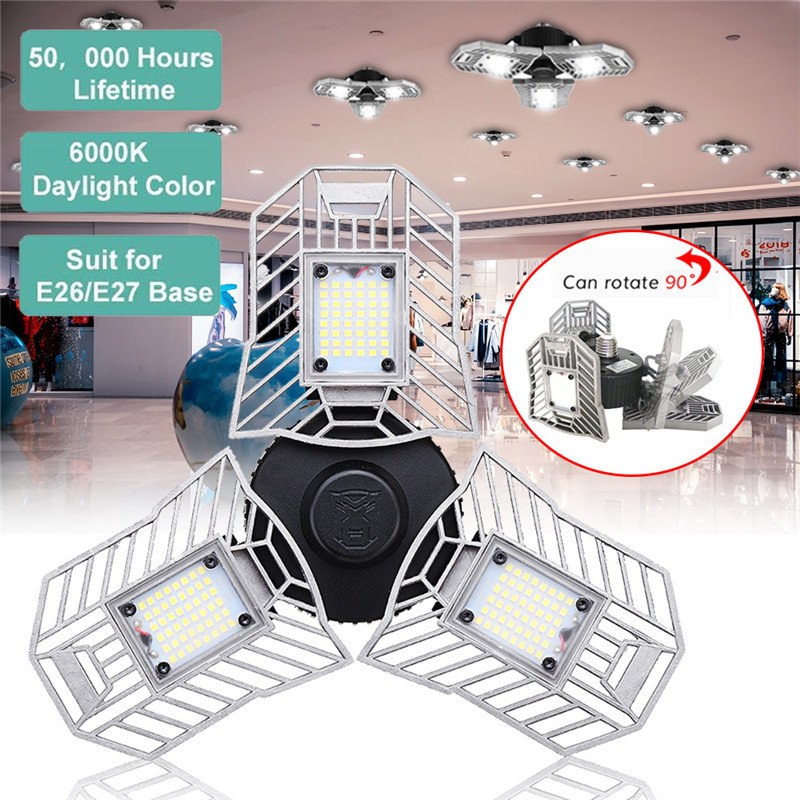 Light Industrial Gas Turbine: E27 60W 144LED Floodlights 6000lm Adjustable Panel