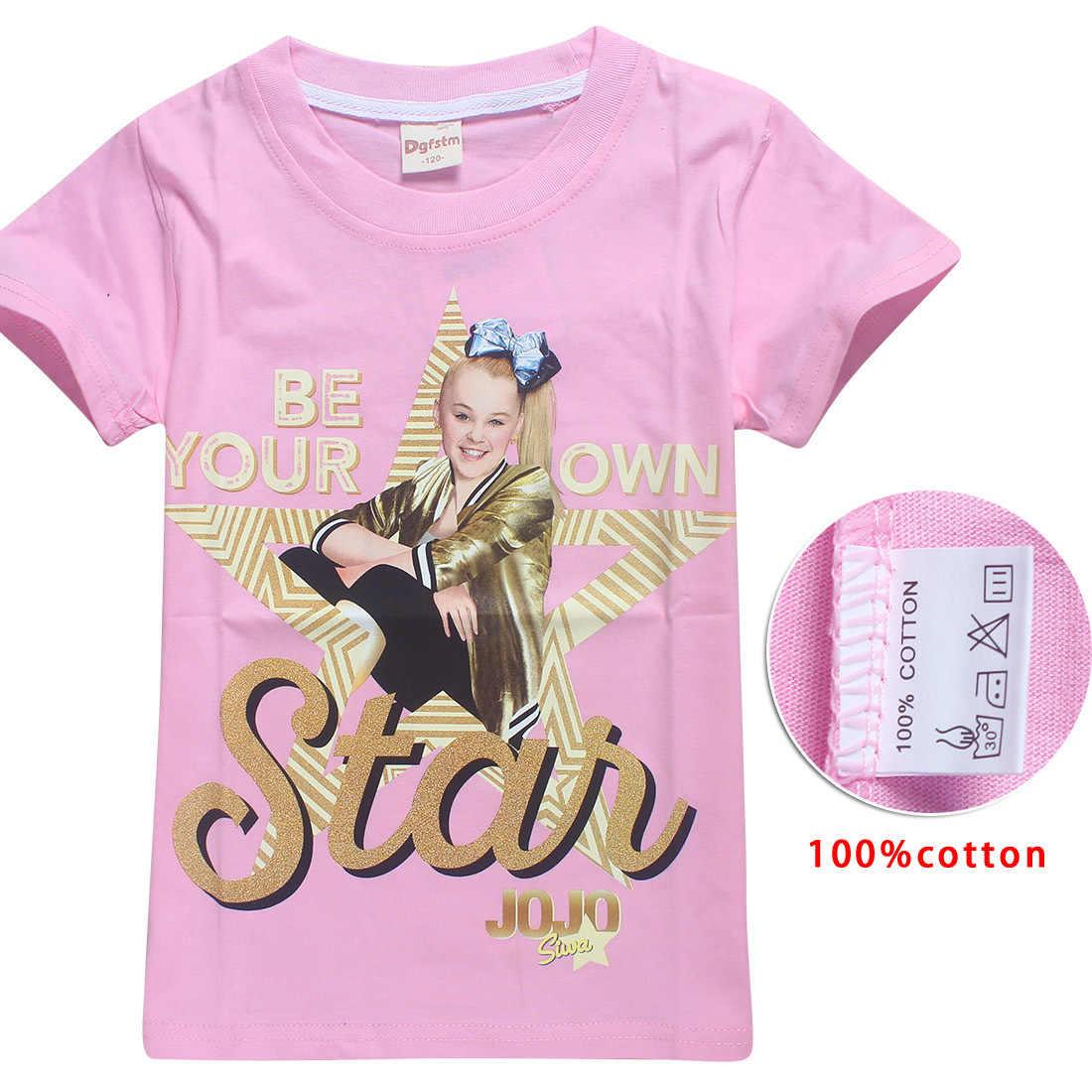 ab3b0697f2f5f 2018 New Summer Jojo Siwa Shirts Baby Girls Tshirts Short Sleeve T Shirts  for Kids Moana T-shirt Child Sport Clothes 4-12Y