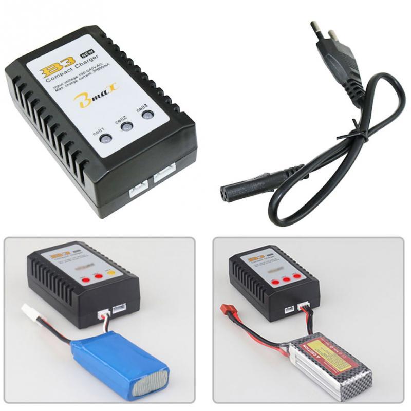 EU/US Plug B3 7.4V 11.1V Lithium Balanced Battery Charger 2S-3S Cells Lipo Power Supply For RC Drone Quadcopter