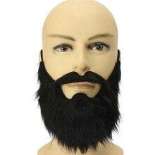 Пром реквизит смешной костюм усы Хэллоуин вечерние усы пирата вечерние черного цвета с украшениями Детский комплект-Имитация борода Для мужчин