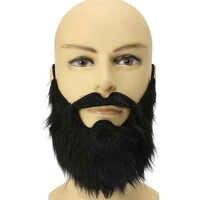 Prom rekwizyty zabawny kostium wąsy Halloween Party wąsy Pirate Party dekoracji czarny dla dzieci fałszywe brody mężczyźni