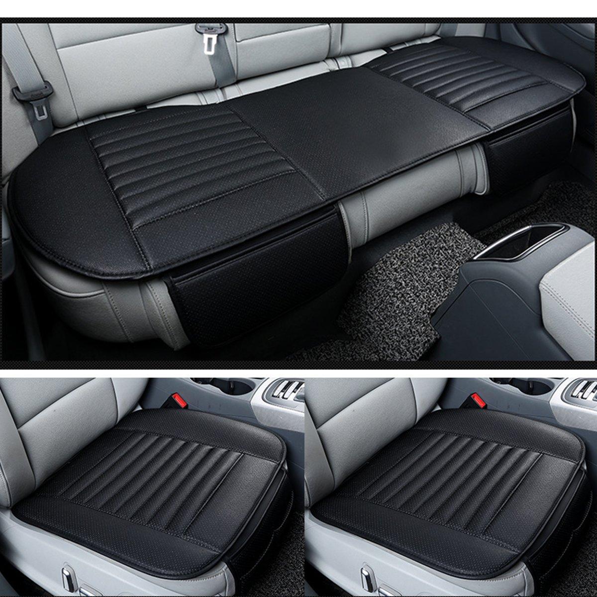 1 Set pour housse de siège de voiture 5 places hiver chaud avant arrière coussin de siège arrière en cuir Pu respirant universel tapis de protection de siège de voiture