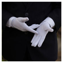 1Pair White Formal Gloves Tuxedo Honor Guard Parade Inspection Collection Serve Gloves White(China)